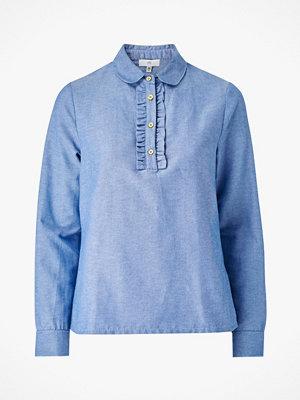 La Redoute Blus i chambray med lång ärm