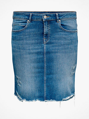Only Carmakoma Jeanskjol carVera Lifeknee Denim Skirt