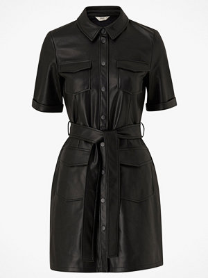 Only Klänning onlMaylee-Mada Faux Leather Dress Pnt
