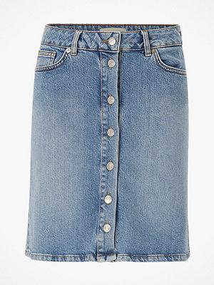 Selected Femme Jeanskjol slfRose MW Bayside Blue Denim Skirt