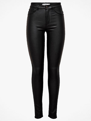 Jacqueline de Yong svarta byxor Jeans jdyNewThunder Coated High