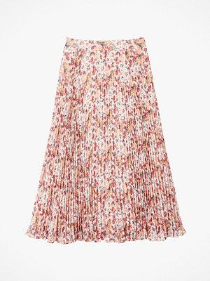 La Redoute Lång, plisserad kjol med blommönster