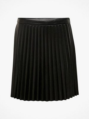 Jacqueline de Yong Kjol jdyTwix Pleat Faux Leather Skirt