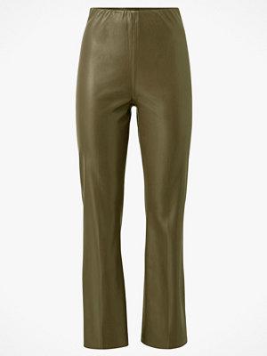 Soaked in Luxury Byxor SLKaylee PU Kickflare Pants omönstrade