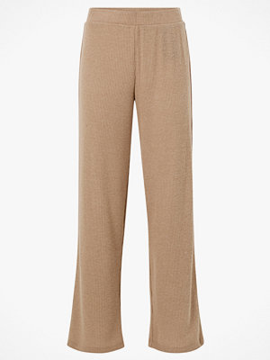Pieces Byxor pcHermione MW Pants beige