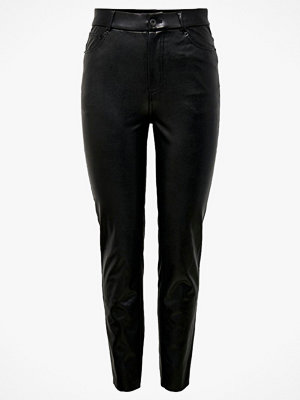 Only svarta byxor Jeans onlEmily HW ST Ank Faux Leather Pant