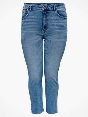 Only Carmakoma Jeans carRica Life Reg St Ankle Raw