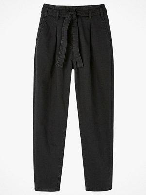 La Redoute byxor Smal byxa med hög midja och knytskärp