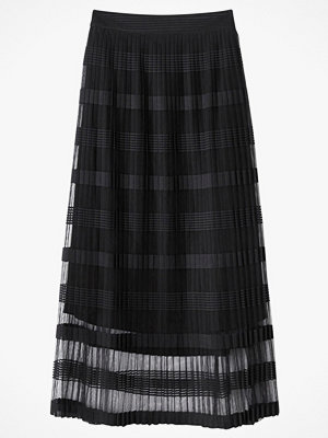 La Redoute Lång, plisserad kjol i randig tyll
