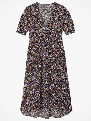 La Redoute Blommig klänning med V-ringning och kort ärm
