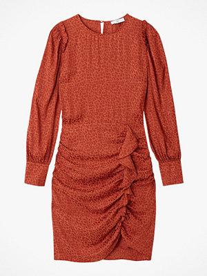 La Redoute Draperad klänning med volanger och lång ärm