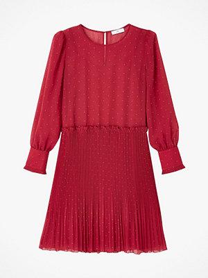 La Redoute Prickig klänning i muslin med lång ärm