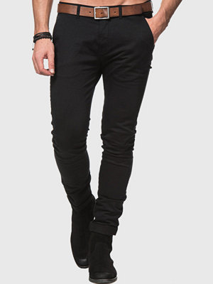 Byxor - William Baxter Zack Slim Chinos Black