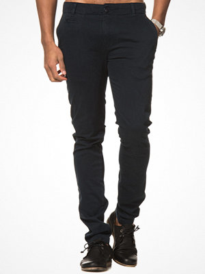 Knowledge Cotton Apparel Stretch Chinos 1001Total Eclipse