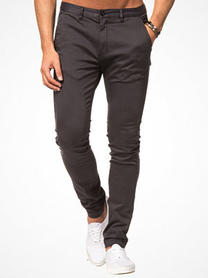 William Baxter Zack Slim Chino Dk Grey