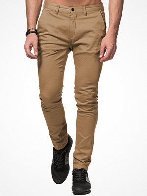 Byxor - William Baxter Zack Slim Chino Beige
