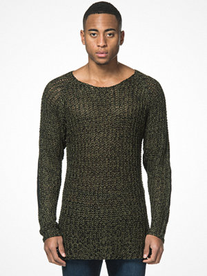 Tröjor & cardigans - Adrian Hammond Marty Knitted Sweater Khaki Green
