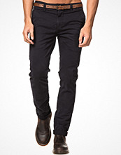 Byxor - Dstrezzed Chinos With Belt Navy