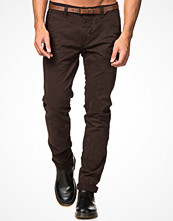 Byxor - Dstrezzed Chinos With Belt Brown