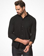 Skjortor - CLOSE by DENIM The Washed Shirt Black