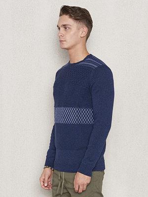 Tröjor & cardigans - Wrangler Structured Crew Knit New Indigo
