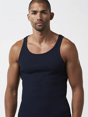 Linnen - Bread & Boxers Tank Ribbed Dark Navy