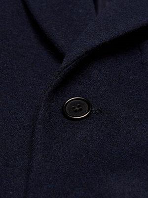 Rockar - Castor by Castor Pollux Pastor Melton Coat Navy Wool