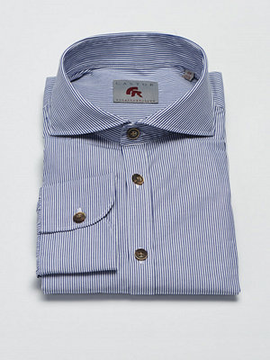 Castor by Castor Pollux Piros Shirt Navy/White Stripe