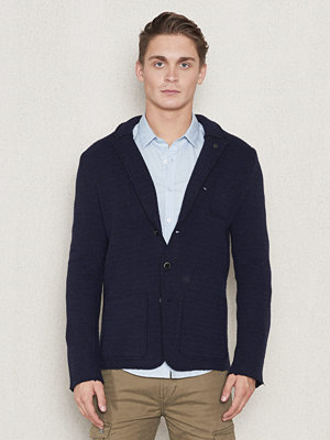 Dstrezzed Knitted Blazer Wool Black/Dark Navy