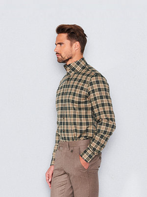 Castor Pollux Rex Shirt Green Check Flannel