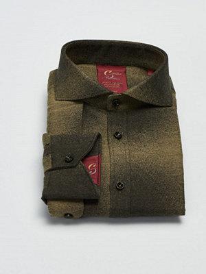 Skjortor - Castor Pollux Paros Shield Shirt Green Flannel