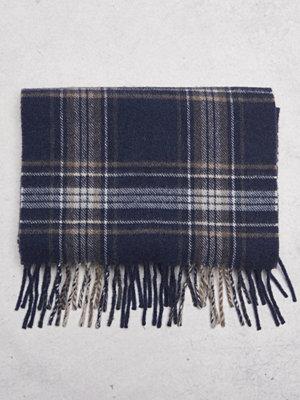 Halsdukar & scarves - Castor by Castor Pollux Plaidus Scarf Navy Check