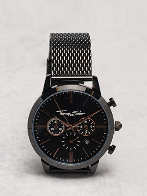 Klockor - Thomas Sabo WA0247 Eternal Rebel Chrono Mesh Black Rosé