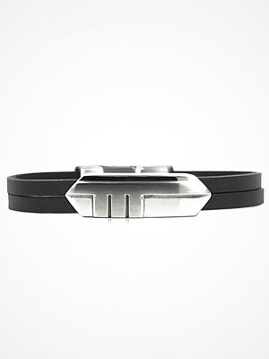 Smycken - AROCK by a&a man Brian Bracelet Steel/Leather