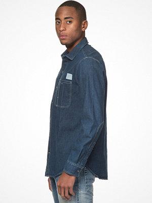 Skjortor - Clay Cooper Worker Denim Shirt Blue