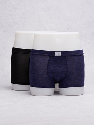 Frank Dandy 2-Pack Bamboo Trunks Black/Space Grey Navy