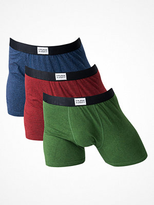 Frank Dandy 3-Pack Legend Melange Boxer Green/Burgundy/Navy