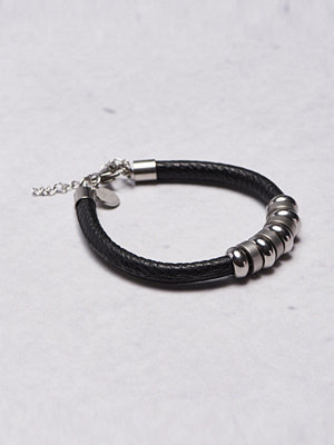 Smycken - by Billgren Leather Bracelet 8922 Black