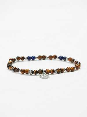 Smycken - by Billgren Bead Bracelet 8946 Brown/Blue