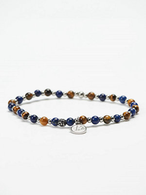 Smycken - by Billgren Bead Bracelet 8951 Blue/Brown
