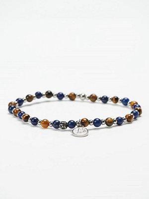 by Billgren Bead Bracelet 8951 Blue/Brown