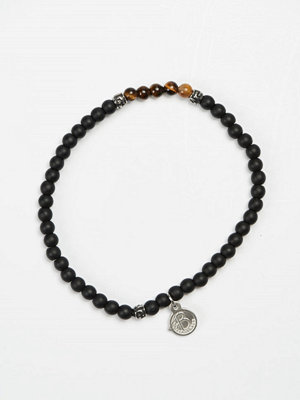 Smycken - by Billgren Bead Bracelet 8955 Black/Brown