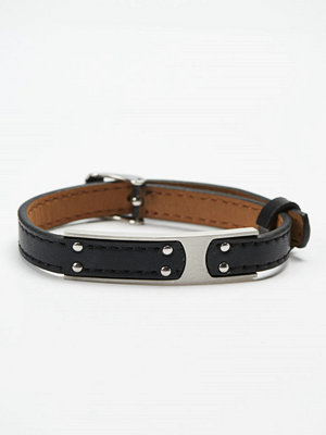 Smycken - by Billgren Leather Bracelet 8976 Black