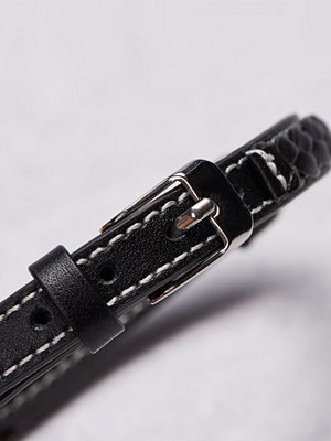 Smycken - by Billgren Leather Bracelet 8975 Black