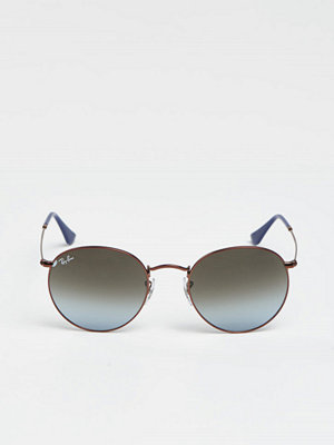 Ray-Ban RB3447 Round Metal Dark Bronze/Green