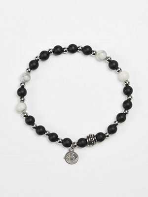 Smycken - by Billgren Bead Bracelet 8941 Black/White