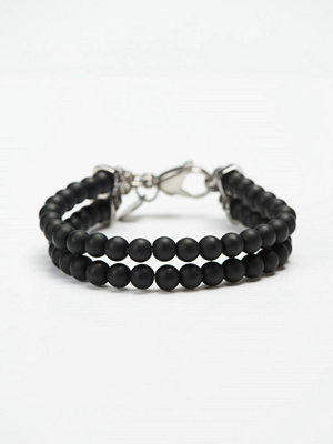 Smycken - by Billgren Bead Double Bracelet 8910 Black