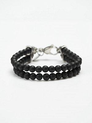 Smycken - by Billgren Bead Double Bracelet 8910 Black