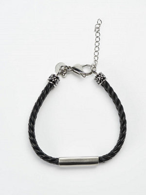 Smycken - by Billgren Leather Bracelet 8903 Black