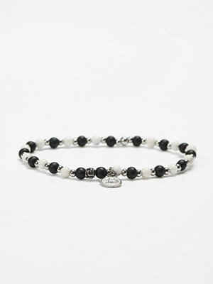 Smycken - by Billgren Bead Bracelet 8949 White/Black